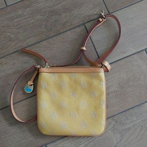 Yellow Dooney & Burke Satchel Crossbody Purse